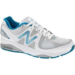W1540WB2 White/Blue Optimum Control Womens Running Shoes