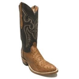 Cowtown Men's Brown 4-Piece Ostrich Leather Western Boots W174