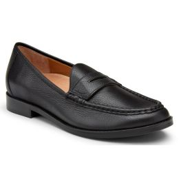 Vionic Black Leather Waverly Womens Loafter Shoes