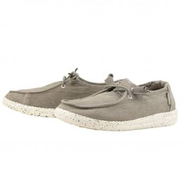 Hey Dude Wendy Grey Canvas Casual Shoes 121413000