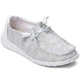 Hey Dude Women's Stone White Wendy Sox Slip On Shoes 121410705