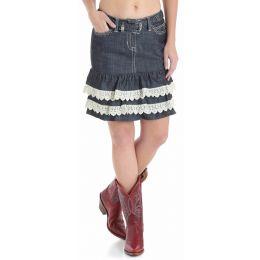 Wrangler Rock 47 Womens Western Denim Skirt WHK30SB