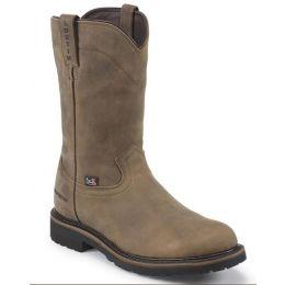 Justin Brown Pull-On Non-Steel Toe Waterproof Mens Work Boots WK4960