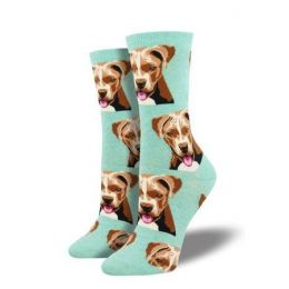 SockSmith Mint Green Womens Pit Bull Socks WNC1529