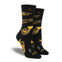 SockSmith Black Womens Brass Socks WNC1605