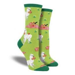 SockSmith Green Womens Alpaca Lunch Socks WNC1768