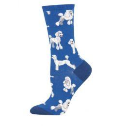 Socksmith Blue Oodles of Poodles Ladies Socks 1 pair WNC1772-BLU