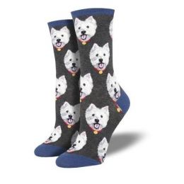 SockSmith Women's Charcoal Westies Socks WNC1903
