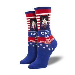 SockSmith Women's Cat For President Socks WNC2038