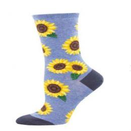 Socksmith Blue More Blooming Ladies Socks WNC2273-BHT