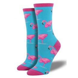 SockSmith Blue Womens Flamingo Socks WNC420-SKY