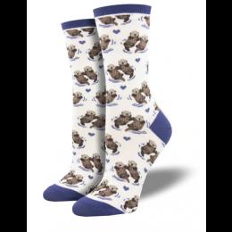 Socksmith White Significant Otter Socks WNC581-WHI