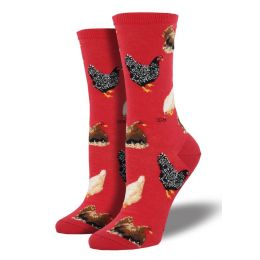 SockSmith Red Womens Hen House Socks WNC774-RED