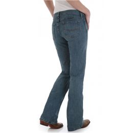 Wrangler Shiloh Stonewashed Cowgirl Cut Ultimate Riding Womens Jeans