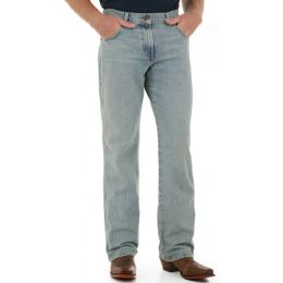 WRT20BW Bleach Wash Retro Boot Cut Wrangler Mens Jeans