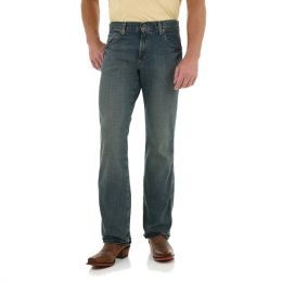 WRT20TW Trail Worn Retro Boot Cut Wrangler Mens Jeans