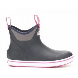 XTRATUF Navy/Pink Women's 6 Inch Ankle Deck Boot XWAB-200
