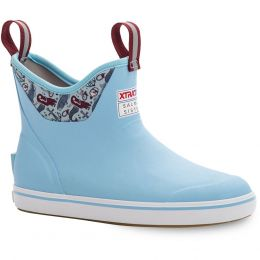 XTRATUF Salmon Sisters Blue Mermaid Life Ankle Womens Deck Boots XWAB-2BM