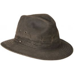 Y1085 Brown Cotton/Poly Blend Crushable Water Repellent Mens Hats