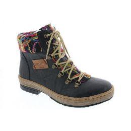 Rieker Black Confetti Day Womens Hiker Boots Z6743-00
