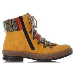 Rieker Yellow Felicitas Womens Bootie Z6743-68