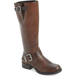 Z9580-25 Mahogany Leather Tall Rieker Anitress Womens Boots