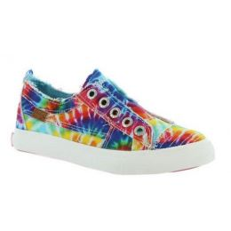 Blowfish Girls Rainbow/Tie Dye Play K Laceless Slip-On Shoe ZS-0061K TD PRT