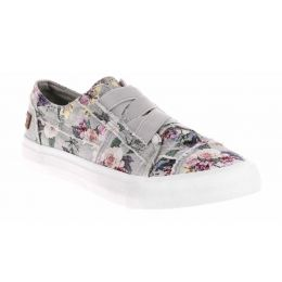 Blowfish Marley Girls Drizzle Grey Love Letter Marley Slip-On Shoe ZS-0071K GPRT