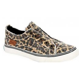 Blowfish Women's Play Natural City Kitty Canvas Comfort Slip-On Shoe ZS0061-958