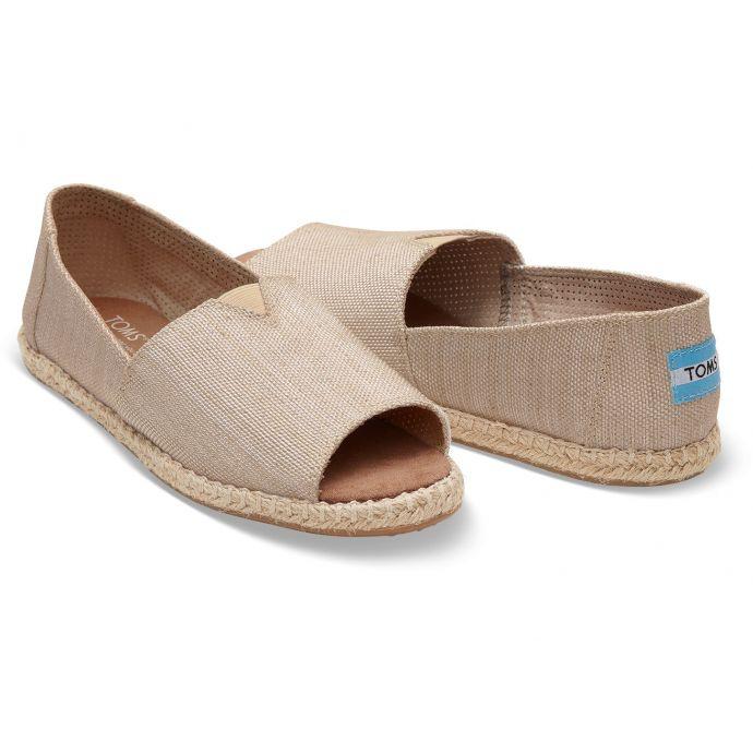 752a6e6e6dcc3 10009845 Natural Yarn Dye Womens Open Toe Espadrilles Toms Shoes