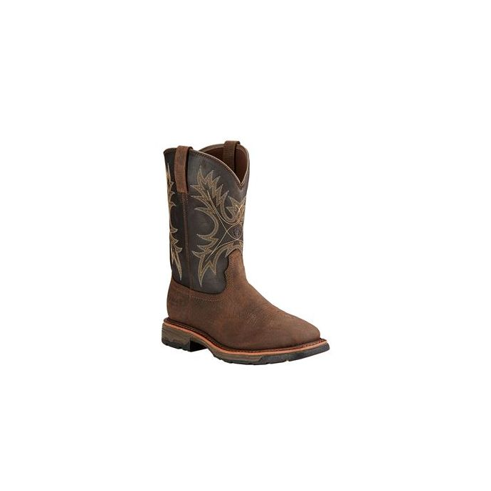 10017436 WorkHog H20 Men\u0027s Ariat Square Toe Work Boots