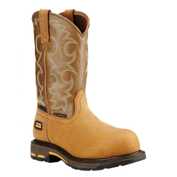 d954e8dc44d 10018578 Workhog Aged Bark Waterproof Western Ariat Womens Work Boots