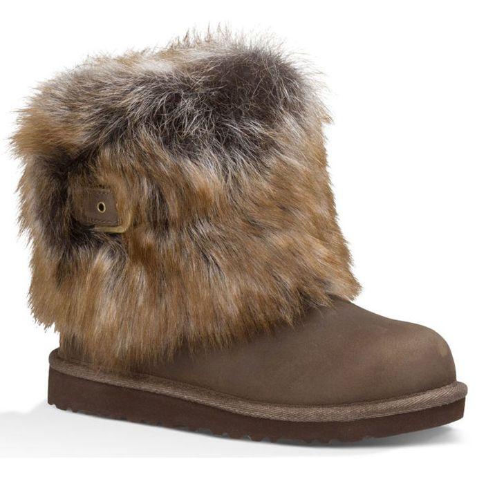 44d6c1d8f4c UGG Elle Chocolate Leather Kids Boots 1008178B-CHOC