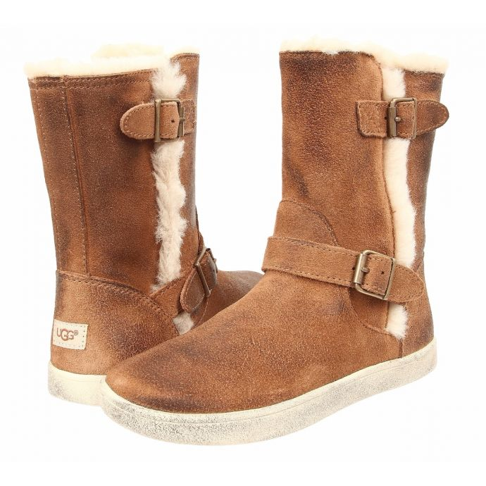 ccb4070b826 UGG Bailey Buckle Chestnut Suede Kids Boots 100880K