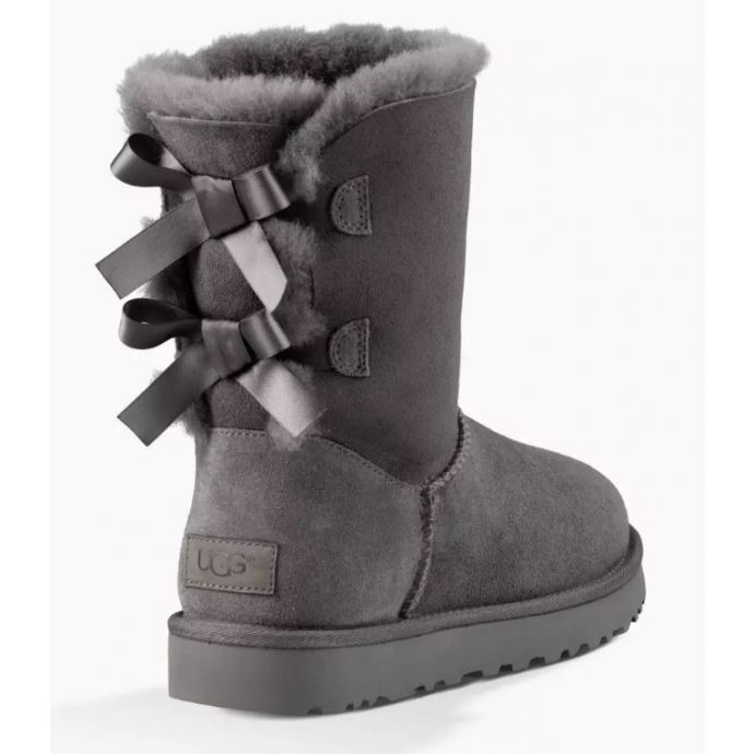 decc1d24fb7 Home  UGG Bailey Bow II Grey Classic Womens Short Boots With Bows On Back  1016225. Skip to the end of the images gallery