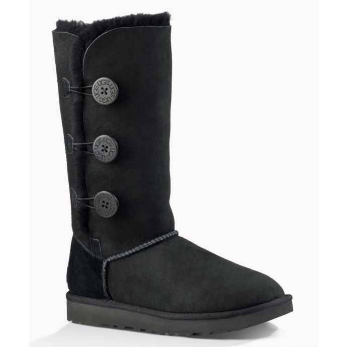 487ef84198f 1016227 Black Bailey Button Triplet II Womens UGG Tall Boots