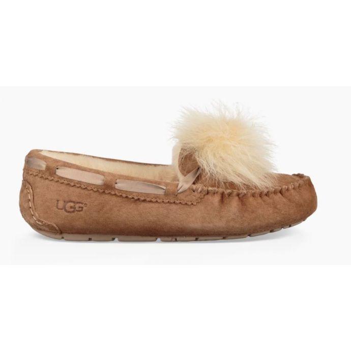b84a6237edb UGG Dakota Pom Pom Chestnut Womens Slippers 1019015-CHE