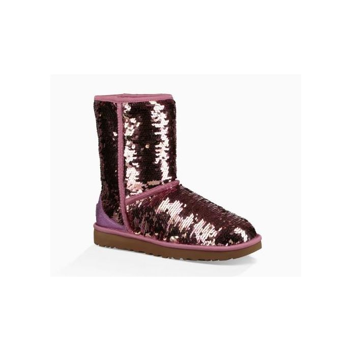 a8e9cef9afe UGG Pink Classic Sequin Womens Short Boots 1094982