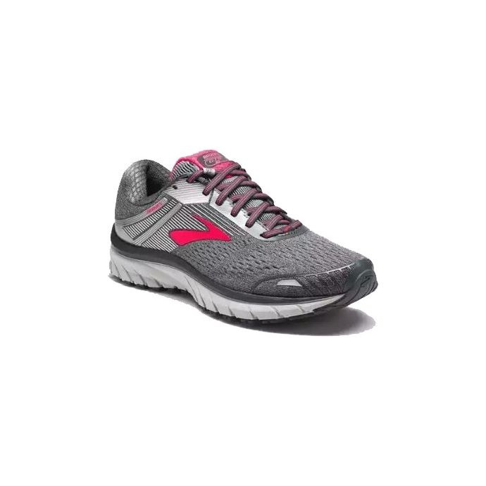 pretty nice f29c7 0f433 Brooks Grey/Pink Adrenaline GTS 18 Womens Road Running Shoes 120268-079