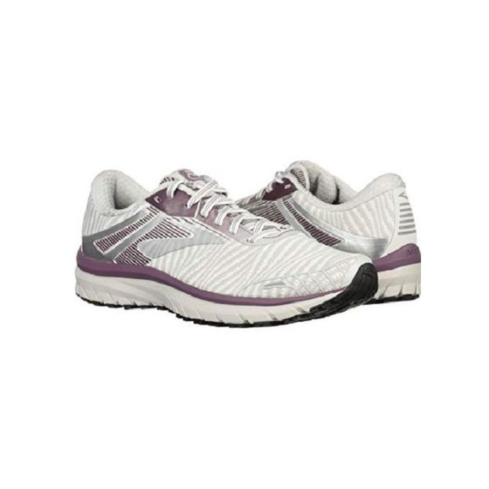 sale retailer 72297 23710 Brooks White/Purple Womens Adrenaline GTS 18 Running Shoes 120268-104