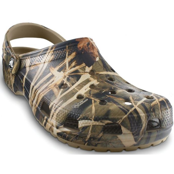ff3fedc04177b Crocs Khaki Camouflage Classic Realtree V2 Mens Clogs 12132-260