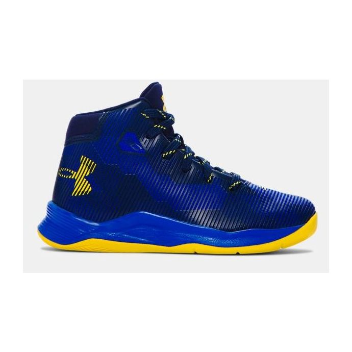 half off 423b4 3727a Under Armour Curry B-Ball Black/Yellow Kids Basketball ...