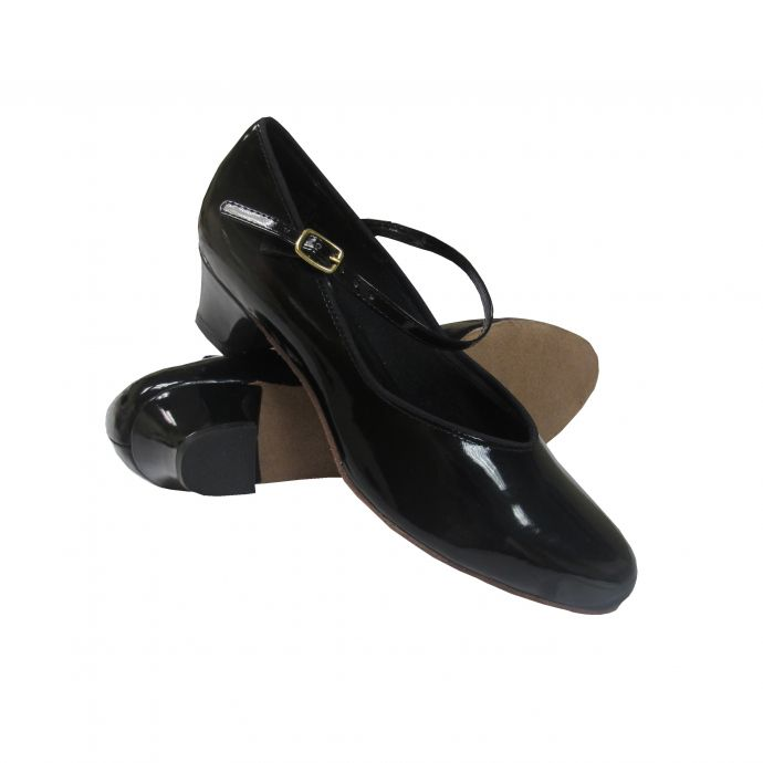 a038c477c 1653 Black Patent Henny 1.5inch Heel Womens Square Dance Shoes
