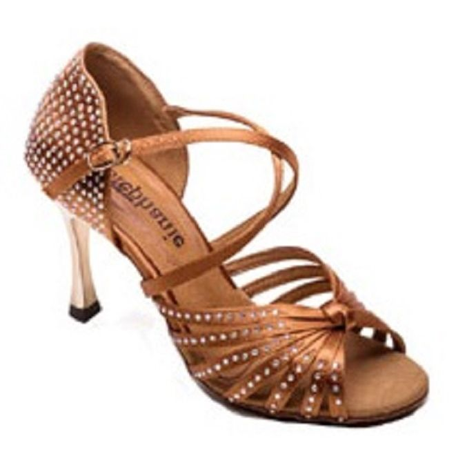 bd243623f2 2090-45 Tan with Crystal Accent Womens Ballroom Dance Shoes