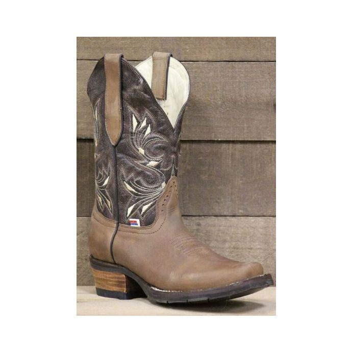 454ff3adee1 RockinLeather Womens Dark Brown With Narrow Square Toe Western Boots 2133