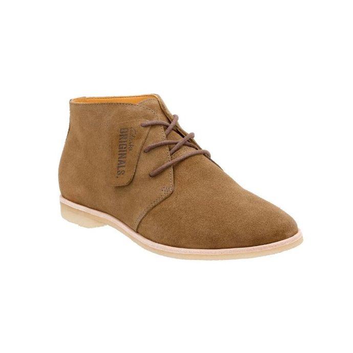 59d9d2e7d2 26119965 Phenia Desert Khaki Suede Lace Up Crepe Sole Clarks Womens Shoes