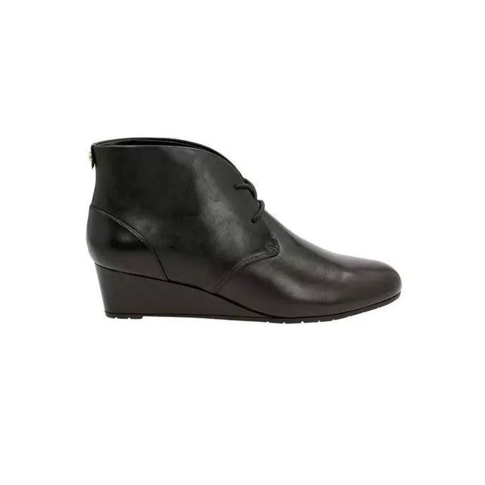 6511c686 Clarks Vendra Peak Black Full Grain Leather Womens Ankle Booties 26120199