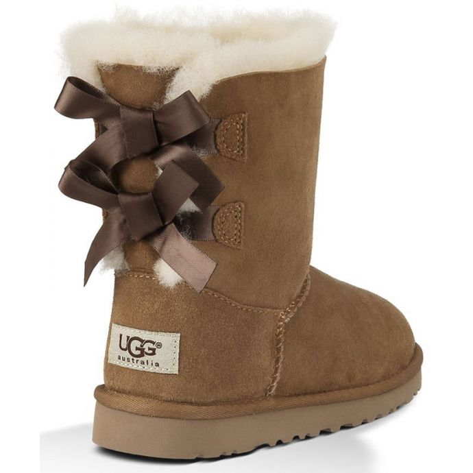 b0ef17aa30b UGG Bailey Bow Chestnut Suede Kids Boots 3280K/Y-CHE