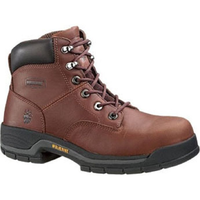1c9ae81298b 4904 Dark Brown 6 in Lace Up Steel Toe EH Mens Wolverine Work Boots