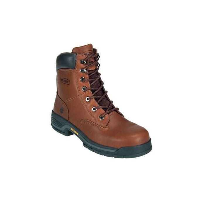 61948b80d3b 4905 Dark Brown Lace Up Steel Toe EH Mens Wolverine Work Boots